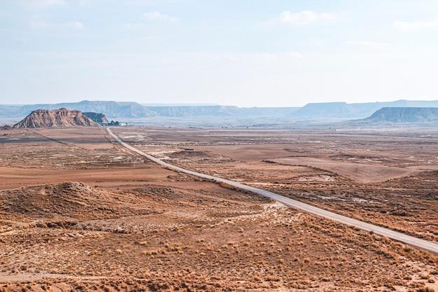 Дорога барденас реалес в наварре. испания