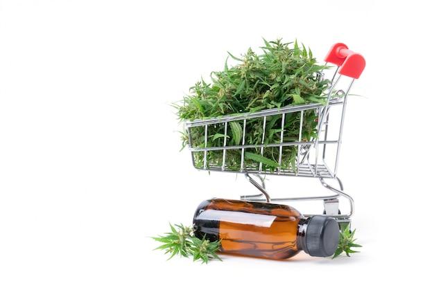 分離されたカンナビジオール抽出物と大麻
