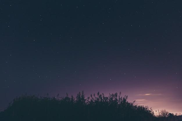 Город астрофотографии ночью