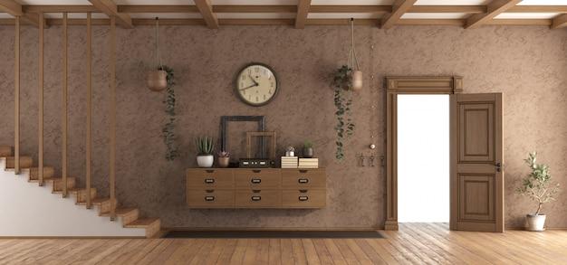 Ретро домик с открытой дверью