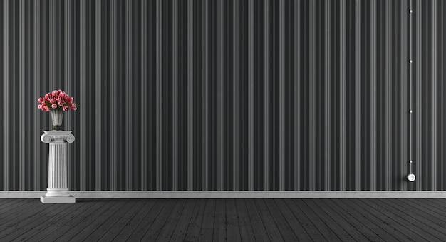 Пустая классическая черная комната