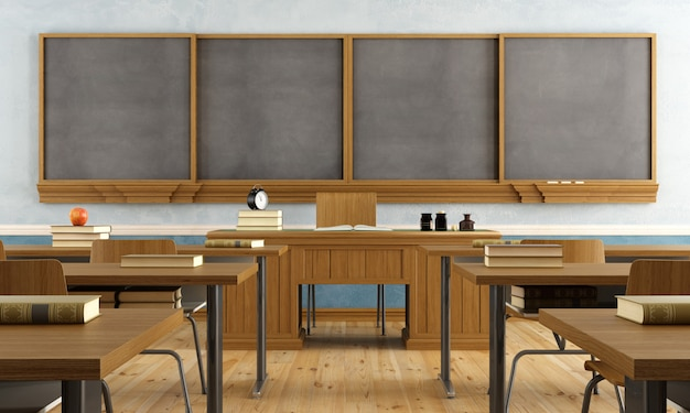 学生のいないヴィンテージ教室