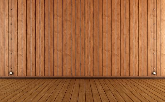 Винтажная комната с деревянными стеновыми панелями