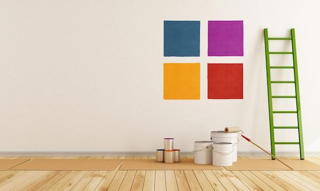 壁をペイントする色見本を選択してください
