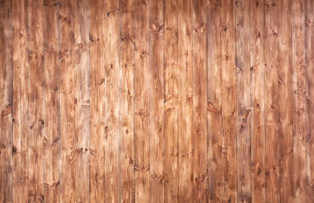 多くの木製の茶色の板からの美しい背景
