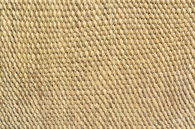 Крупным планом подробный вид плетения плетеной корзины