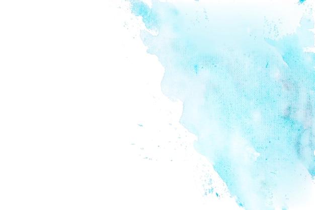 コーナーの背景で劣化した青い水彩