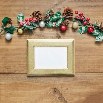 クリスマスと新年の背景。
