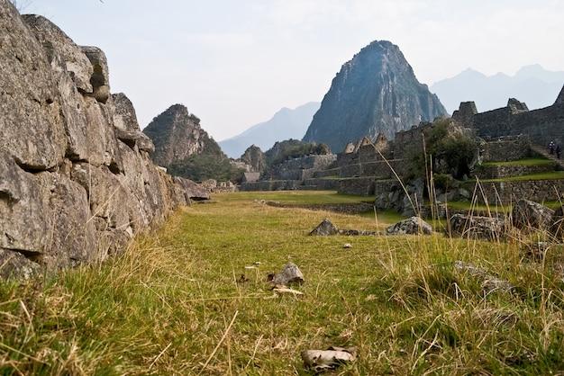 クスコペルーマチュピチュ記念碑