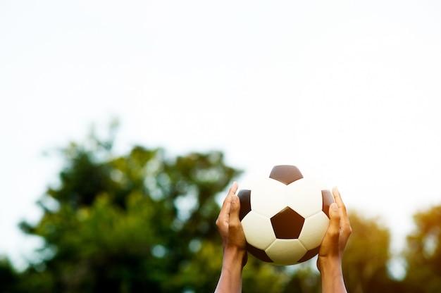 スポーツフットボールスポーツのアイデアを再現するためのスペースがあります。