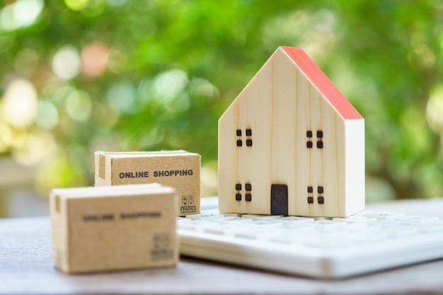 ショッピングカートとショッピングボックスの配達サービスによるオンラインショッピング