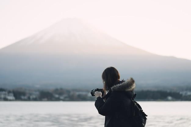 アジアの若い観光客
