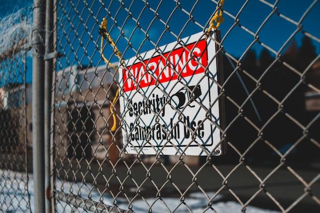 警告セキュリティカムクラッシュ使用標識