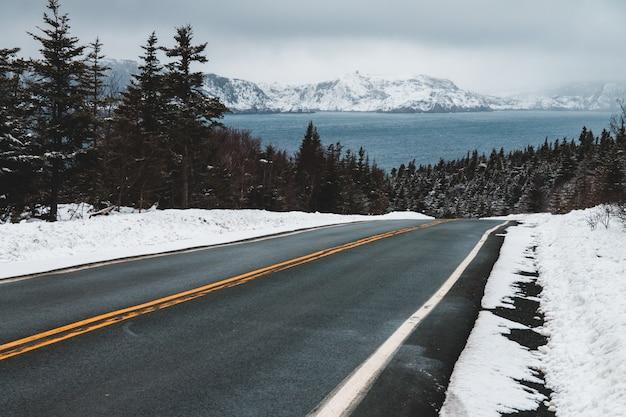 Пустая дорога в дневное время