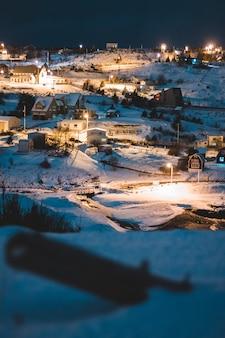 Аэрофотосъемка домов зимой