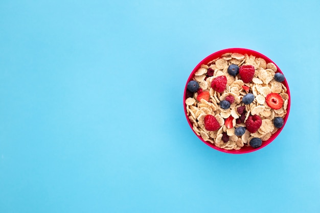 健康的な甘い朝食のコンセプト