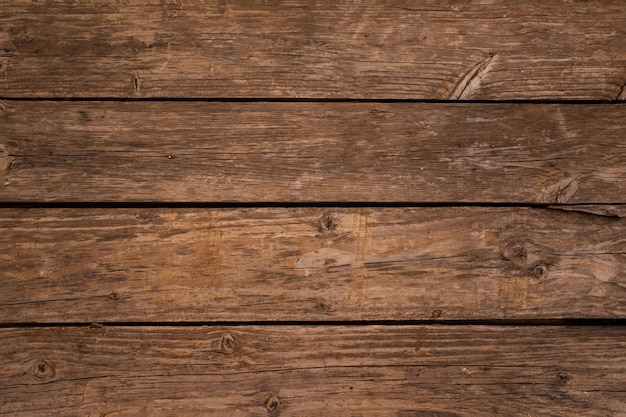 コピースペースを持つ木製の板の背景のオーバーヘッド