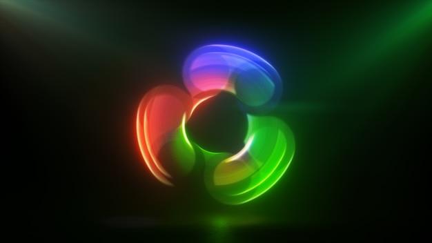 Светящийся вращающийся красный зеленый и синий блесна