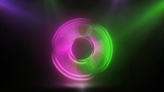 Светящийся вращающийся розовый зеленый блесна