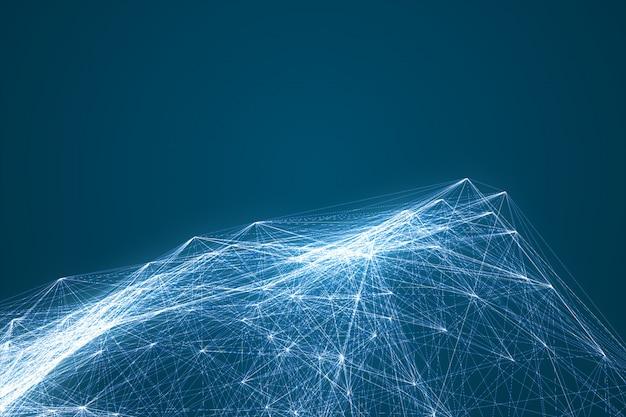 未来的な技術の接続形状。