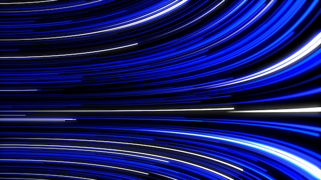 光ファイバーネットワークの線のアニメーションの移動と抽象的な背景。