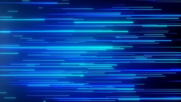 抽象的な方向のネオン線の幾何学的な背景