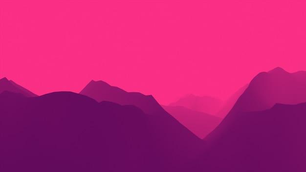 Красочный нереальный полет над каньоном и горами