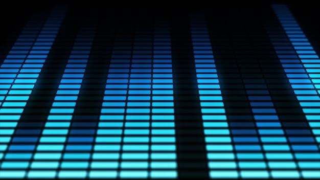 オーディオイコライザーバーが移動しています。音楽コントロールレベル。