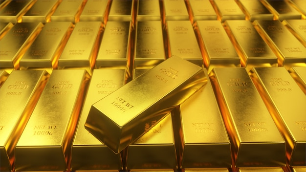 Стена миллионов золотых слитков