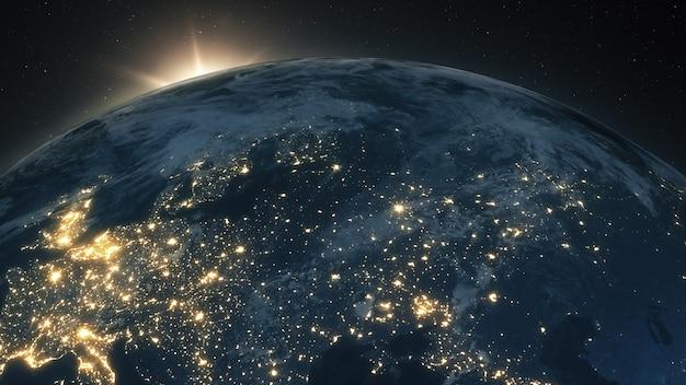 地球上の美しい日の出
