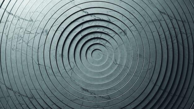 変位の効果を持つ円の抽象的なパターン。織り目加工の大理石の純粋なリングのアニメーション。