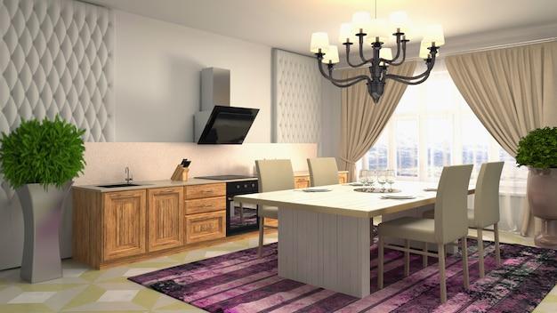 Дизайн интерьера столовой