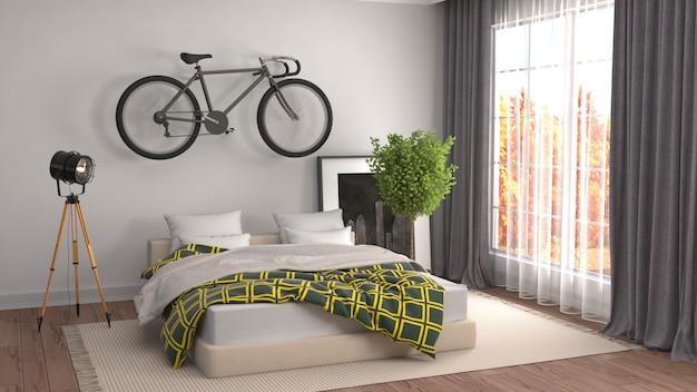 Интерьер спальни оказанные иллюстрации
