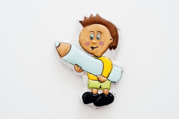 子供の形で明るくおいしいジンジャーブレッド