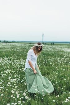 鎮静の分野の女性
