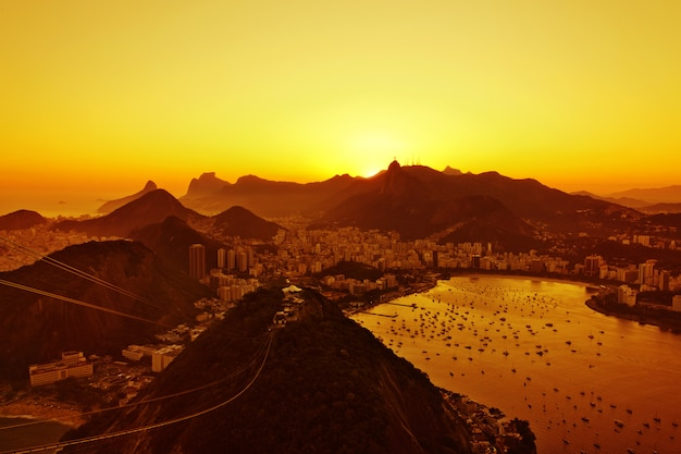 リオデジャネイロの夕日