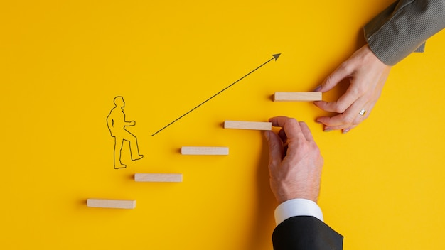ビジネスのチームワークと協力の概念図