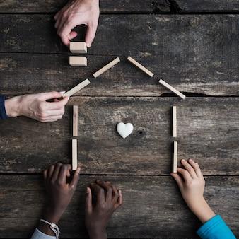 家族と養子縁組の概念図