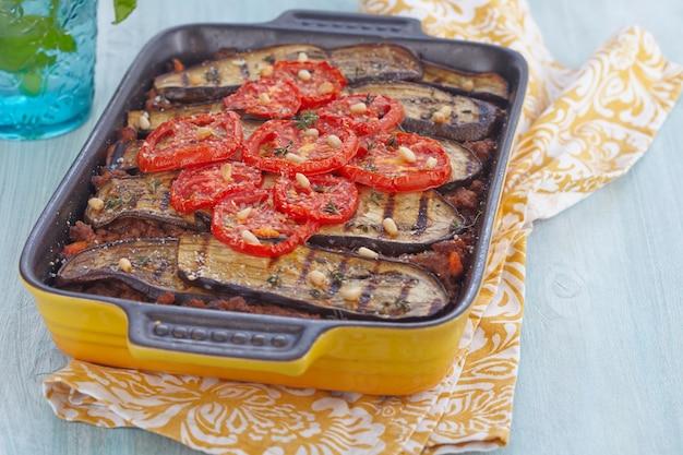挽肉とナスのグラタン焼き