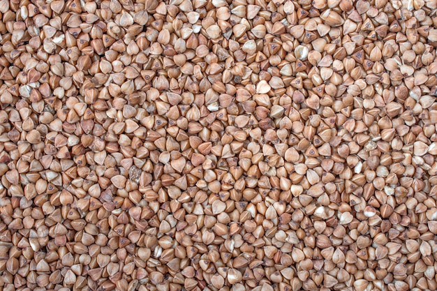 乾燥そばソバ。健康的な食事。穀物テクスチャ背景