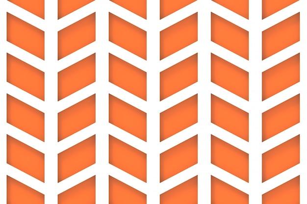 シームレスなモダンオレンジ台形パターン壁