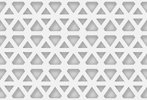 シームレスなモダンな白い六角形の幾何学模様の壁の背景