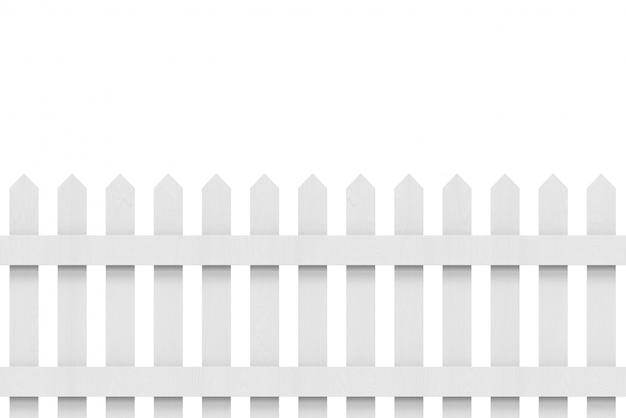クリッピングパスと新しい灰色の木製フェンス。