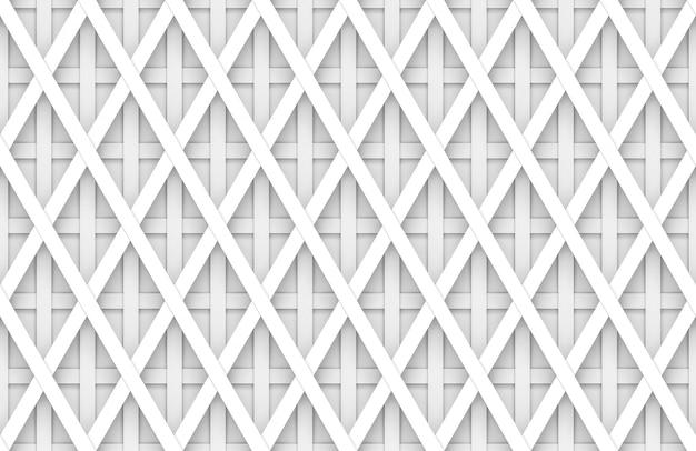 シームレスなモダンな柔らかい光白い四角い格子パターンの壁の背景。