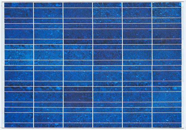 青い太陽電池パネルの表面板テクスチャ壁の背景。