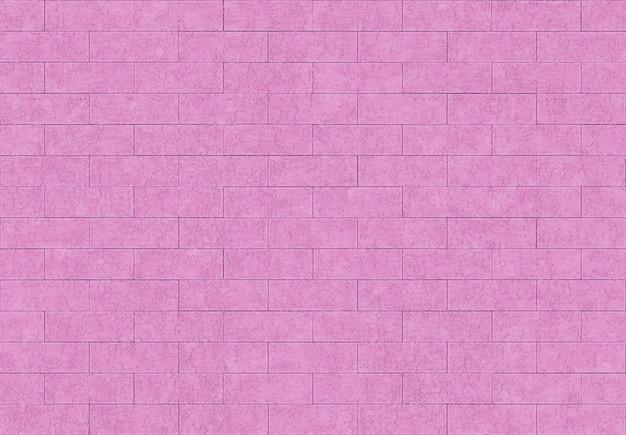 シームレスな甘いピンク紫色レンガブロック壁の背景。