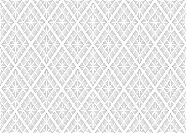 シームレスな現代柔らかい光白い正方形グリッドパターン壁の背景。