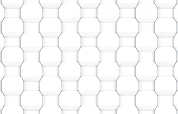 抽象的なモダンな白織り六角形パターンの壁の背景。