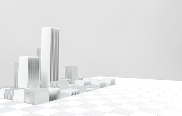 Современная футуристическая серая архитектура здания фон.