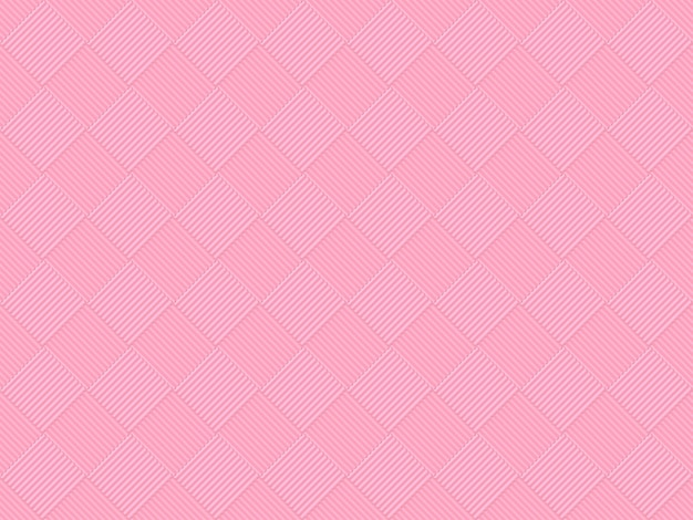 シームレスな甘い柔らかいピンク色トーングリッド正方形アートパターンタイルデザイン壁の背景。